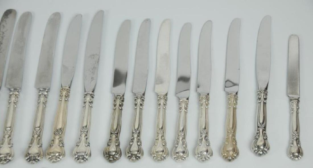 "52 Gorham ""Chantilly"" Sterling Knives & Spreaders - 2"
