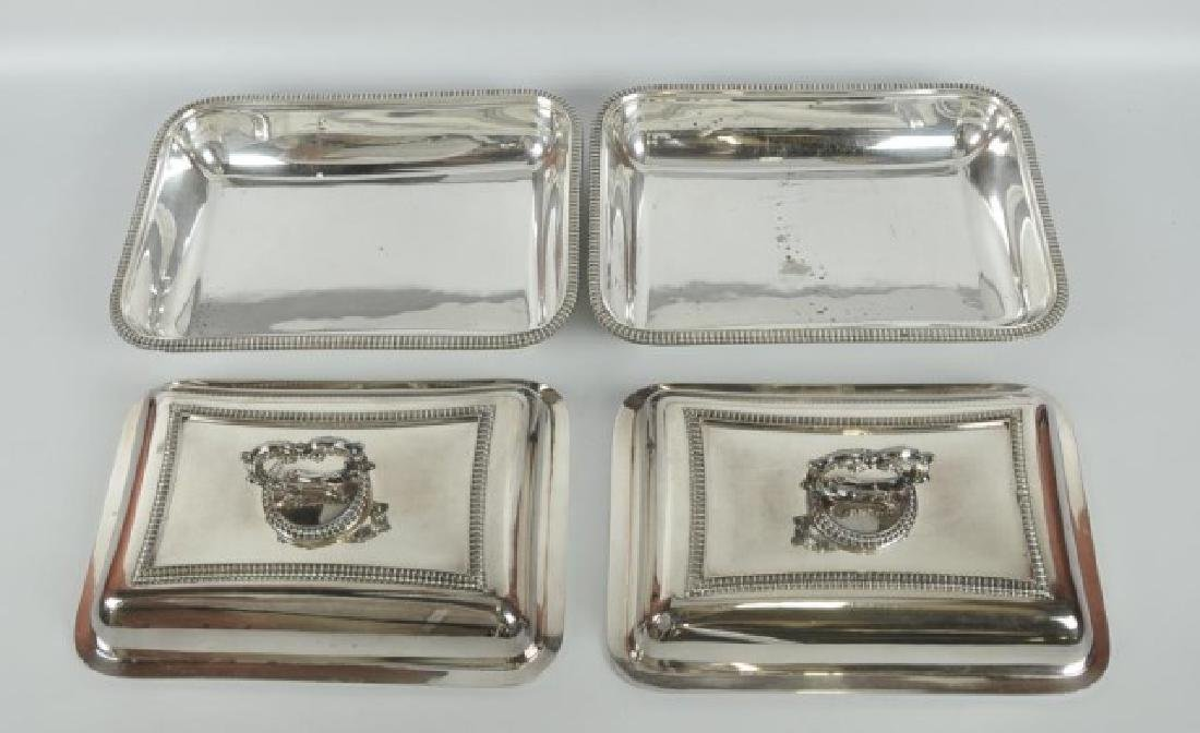 Pair Silver Plate Entree Dishes - 2