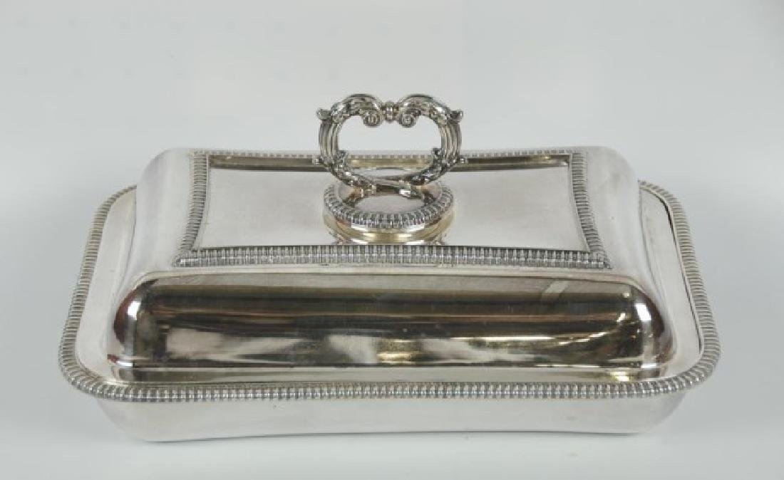 Pair Silver Plate Entree Dishes - 3