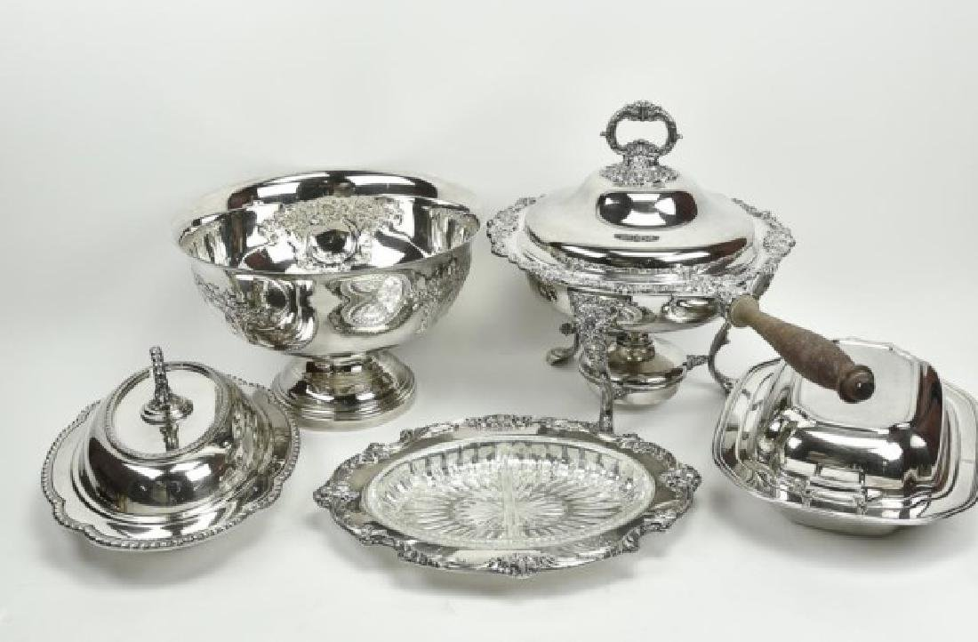 Lot of Silverplate Tableware