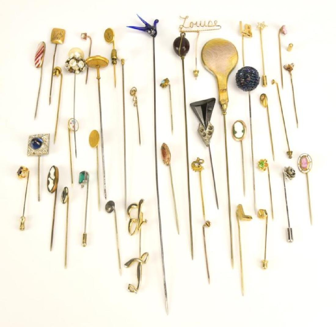 Grouping of Hat Pins and Stick Pins