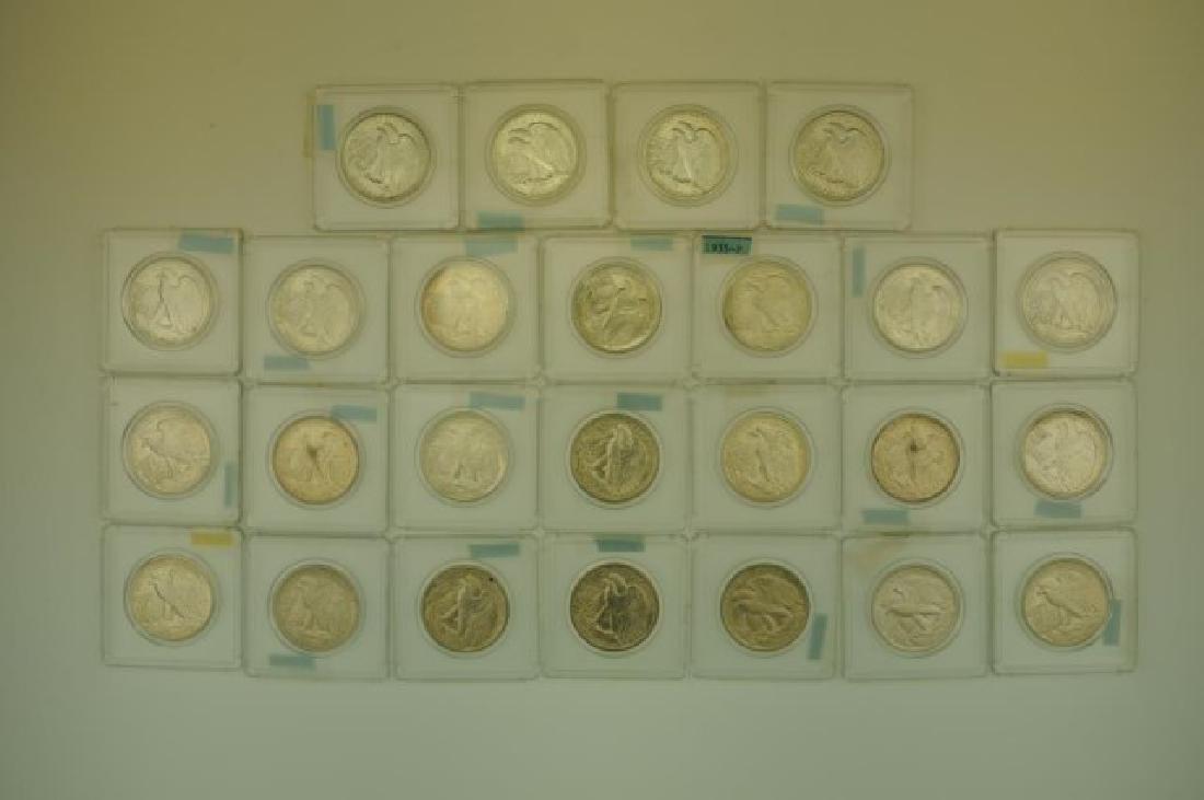25 Walking Liberty Silver Half Dollars - 2