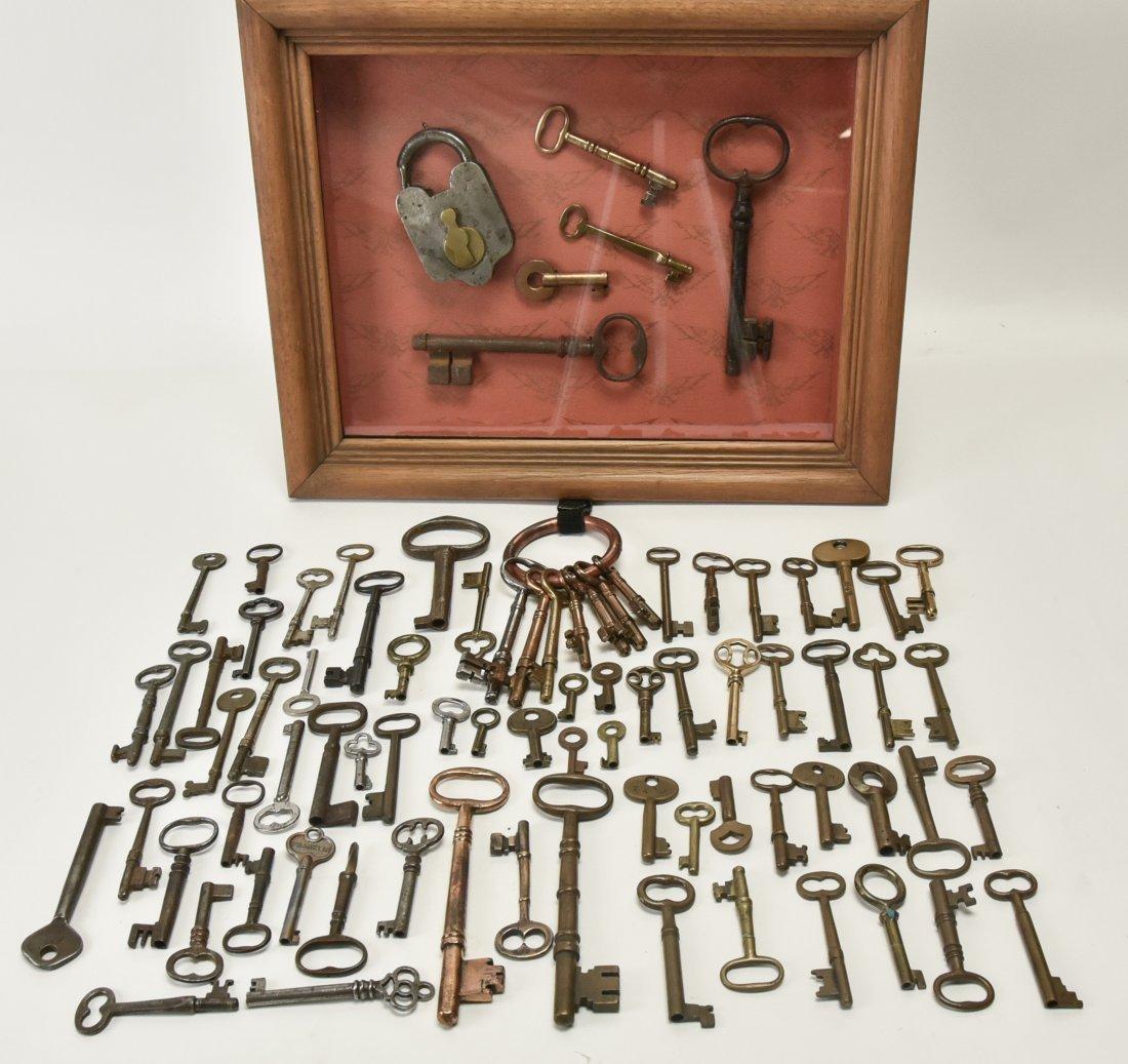 Over 75 Brass & Steel Door & Cabinet Keys