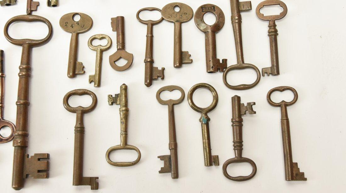 Over 75 Brass & Steel Door & Cabinet Keys - 3