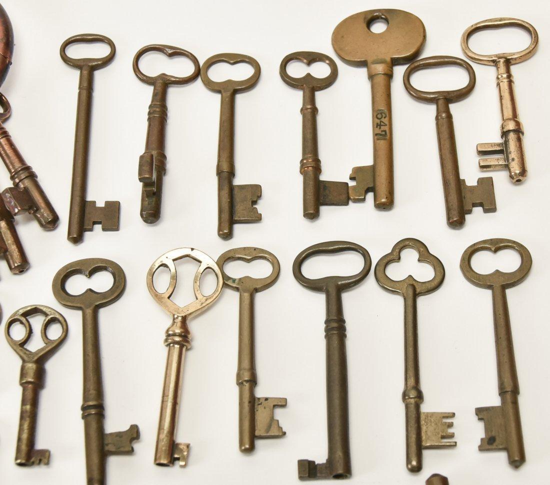 Over 75 Brass & Steel Door & Cabinet Keys - 4
