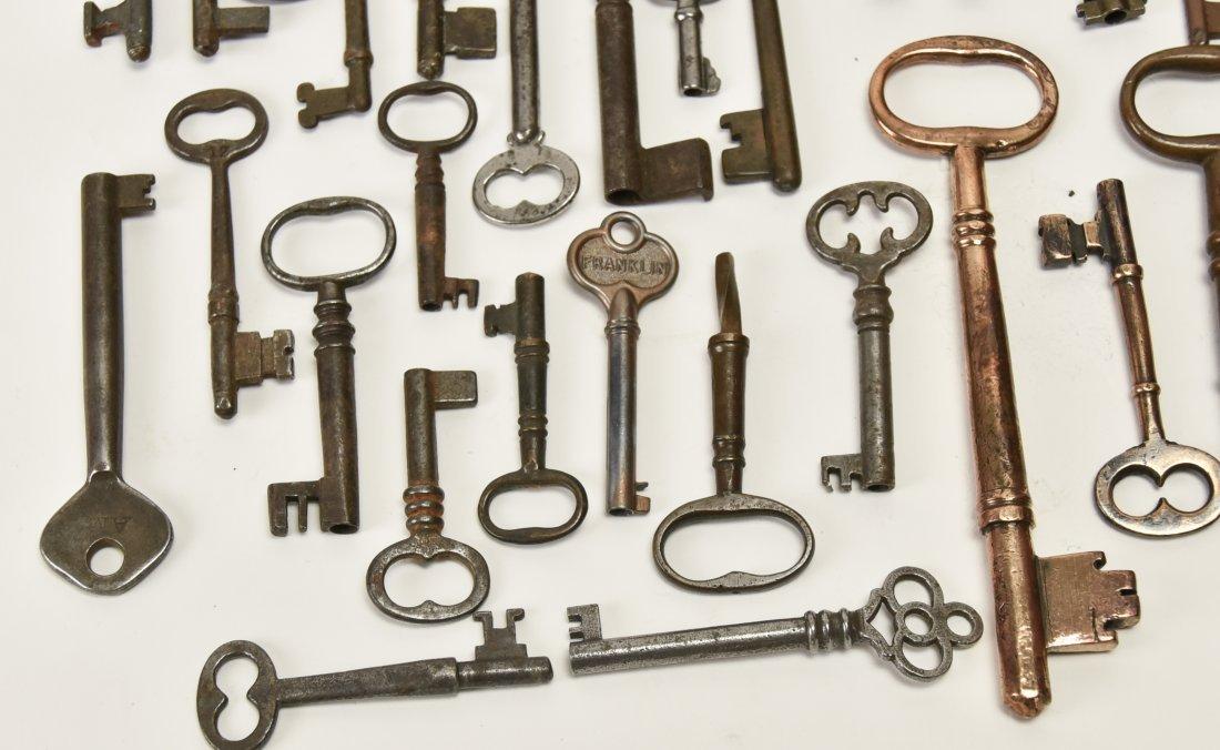 Over 75 Brass & Steel Door & Cabinet Keys - 7