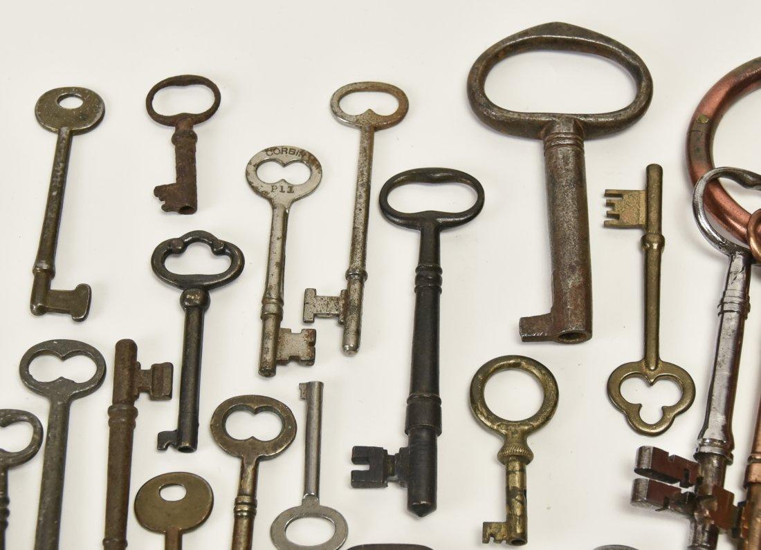 Over 75 Brass & Steel Door & Cabinet Keys - 8