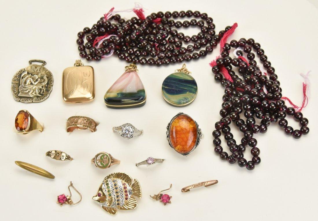 2 Lotton Art Glass Pendants, Other Jewelry
