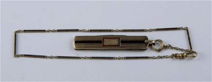 14k Gold Pocket Watch Chain  Wostenholm Knife Fob