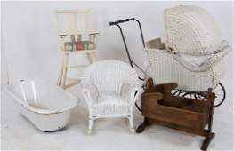 Baby Tub Wicker Stroller Other Childrens Items