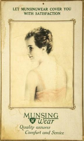 Rare Munsingwear, Zula Kenyon Advertising Easel