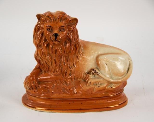 Large Staffordshire Lion Statue