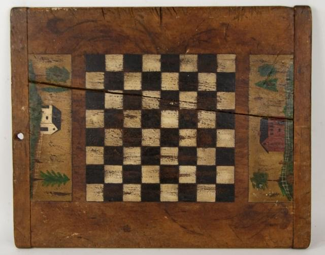 American Painted Wood Gameboard