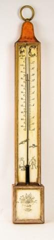 Italian Painted & Stenciled Tole Thermometer