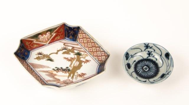 Chinese Blue & White Bowl & Imari Bowl