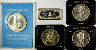 Lot of SilverBar Medallion Coins