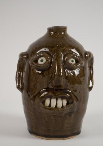 Reggie Meaders, Georgia Stoneware Face Jug