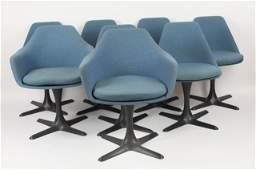 Set of 8 Burke MidCentury Modern Tulip Chairs