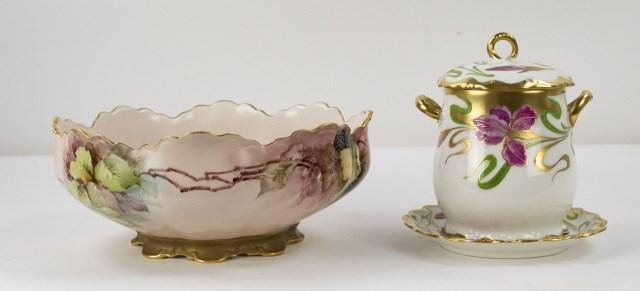French LDBC Flambeau Limoges & Haviland Porcelain