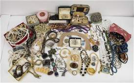 Large Lot of Vintage and Costume Jewelry