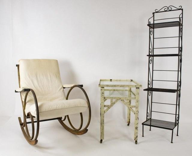 Thonet Style Rocking Chair, Butler's Rack, Table