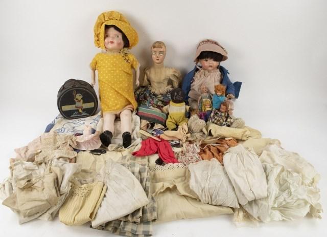Vintage Dolls + Children & Doll Clothes