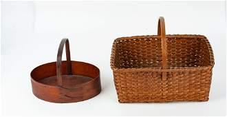Am Shaker Sewing Carrier  Ash Gathering Basket