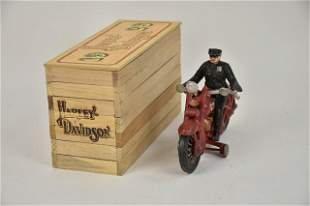 Cast Iron Harley Davidson Motorcycle in Box
