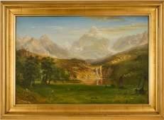 Western Landscape, Signed Oil on Canvas