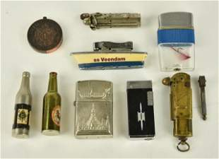 Bowers Trench Lighter & Other Vintage Lighters