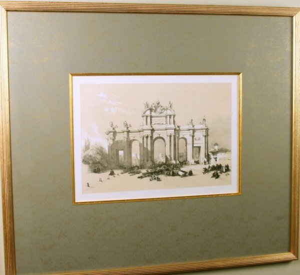 9: Pr. of Spanish Prints in Elegant Custom Framing Pr.