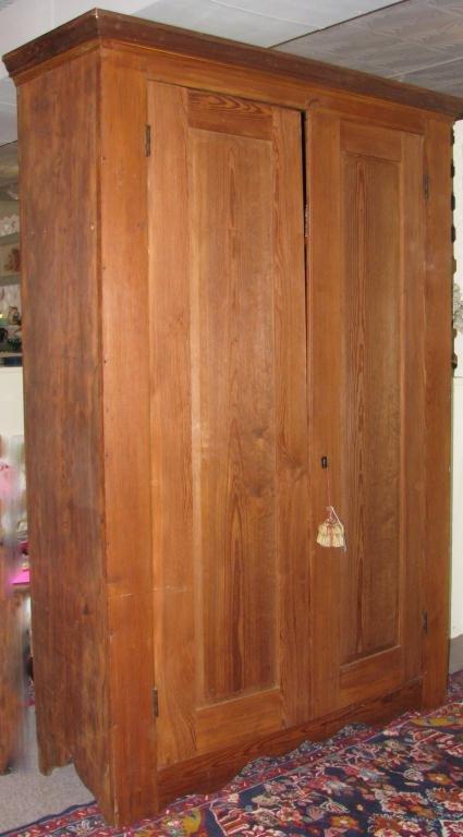 18: Two Door Pine Cabinet Two door pine cabinet; mortis