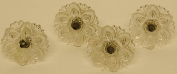 2: Four Curtain Tiebacks 4 flower-shaped opalescent pre