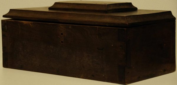 3: Dovetailed Walnut Box w/ Inscription Inscribed on to