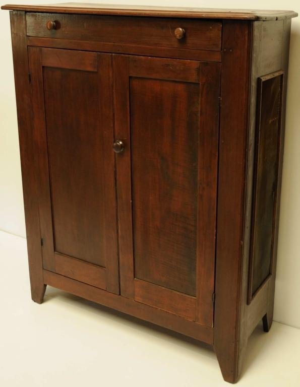 5: C. 1860-70 Pie Safe One drawer over two doors; shelv