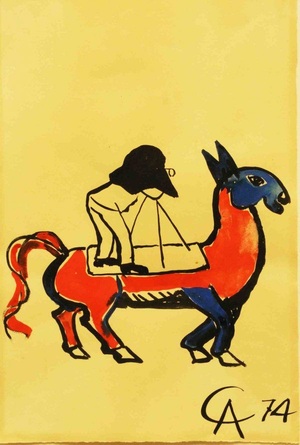 "227: Alexander Calder (1898-1976) Gouache Titled ""Troy"""
