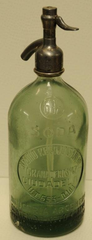284: Two Vintage Soda/Seltzer Siphon Bottles 1.  French - 6