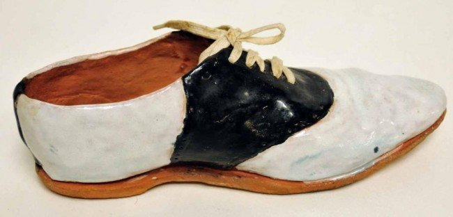 12: Hand Sculpted Clay Saddle Oxford