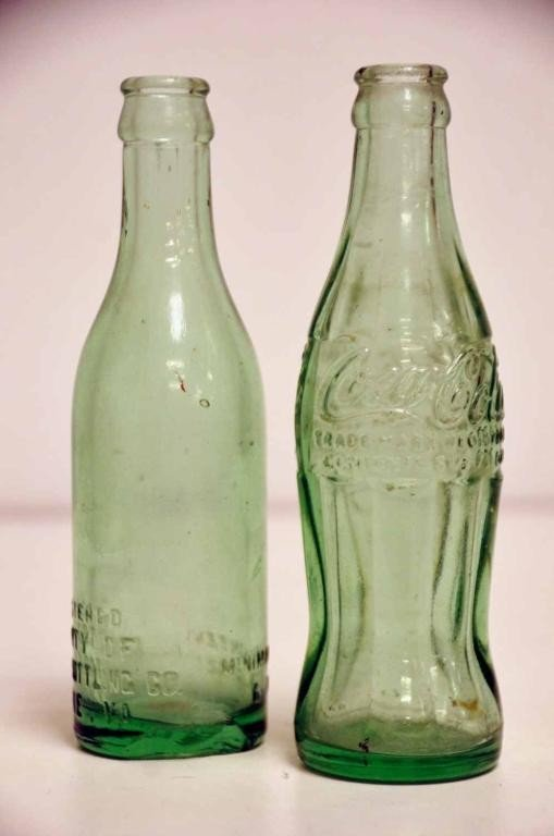 20: Two Vintage Coca-Cola Bottles