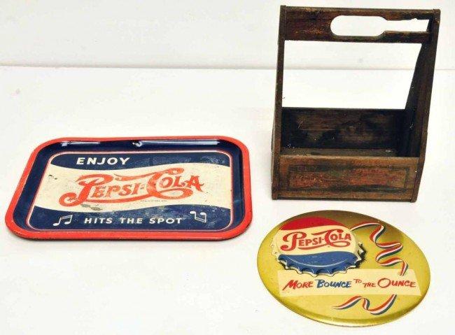 23: Three Pepsi-Cola Advertising Items