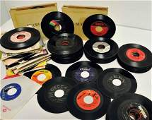 401 Collection of Vintage 45 RPM Vinyl Records