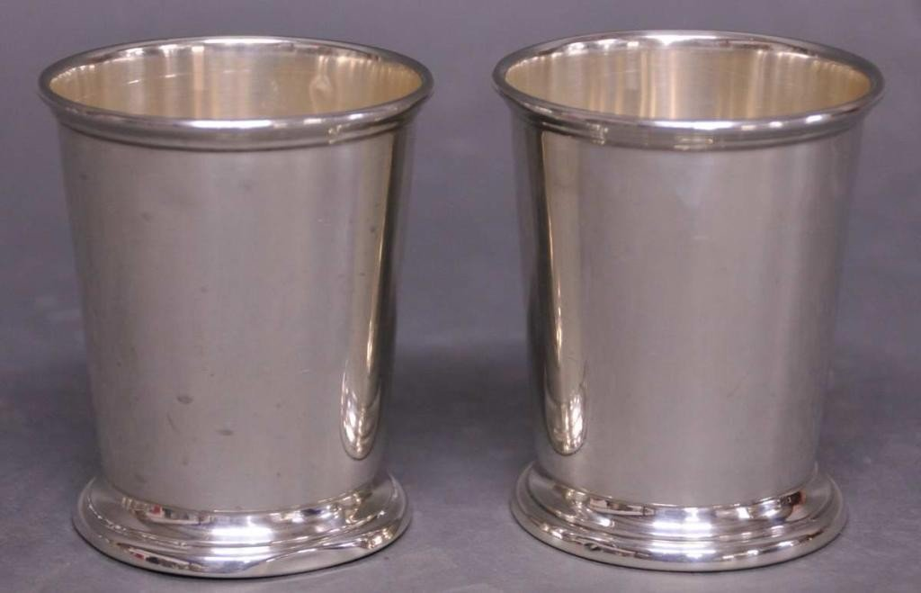 1: Two Sterling Silver Julep Cups