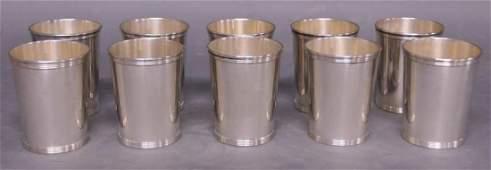 2: Ten Sterling Silver Julep Cups