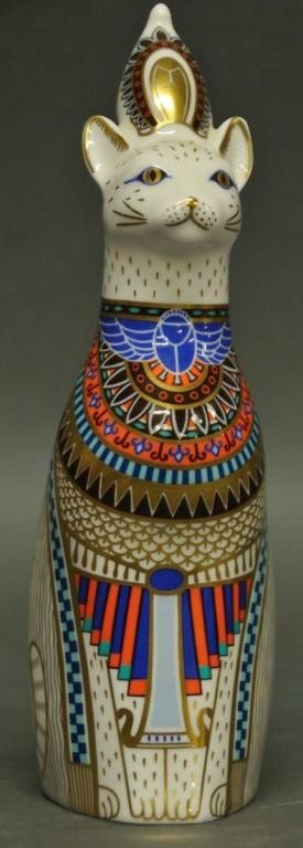 7: Royal Crown Derby 'Egyptian Royal Cat Figure'