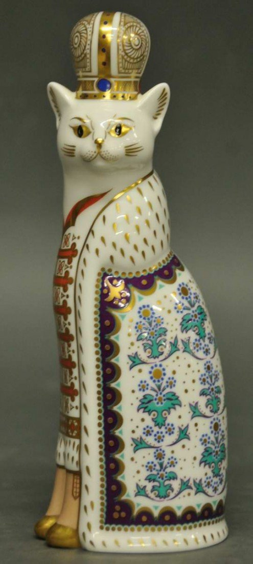 9: Royal Crown Derby 'Russian Royal Cat Figure'