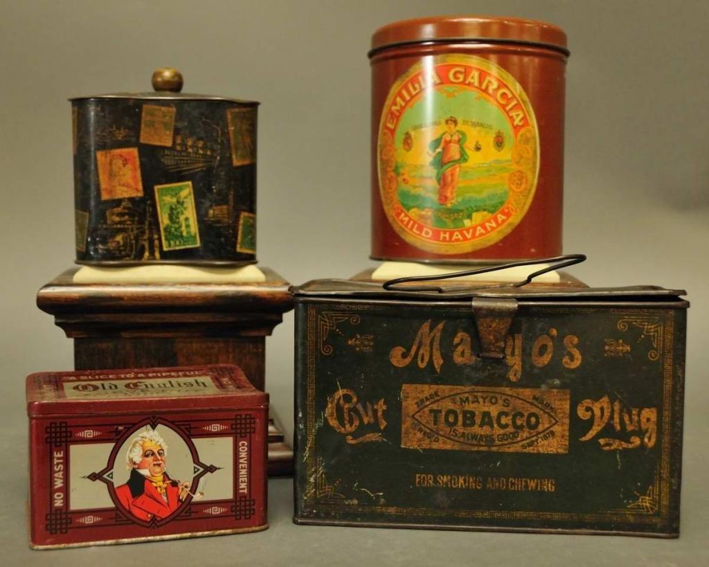 18: Four Tobacco Tins