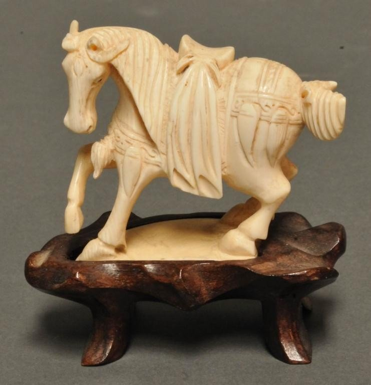 22: Chinese Carved Ivory Figure of Horse