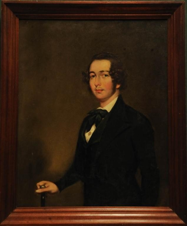 132: C. 1840 Portrait of Young Gentleman with Cane - 2