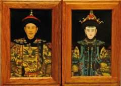 Oriental Emperor/Empress Reverse Paintings