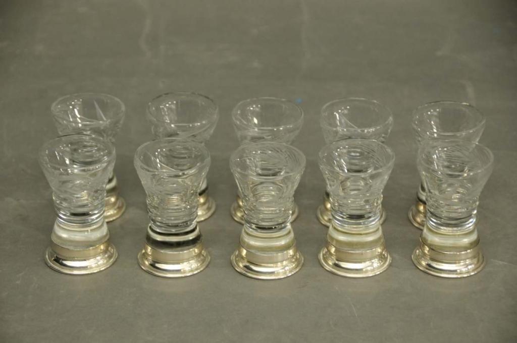 2: Ten Watson Co. Sterling & Glass Cordials